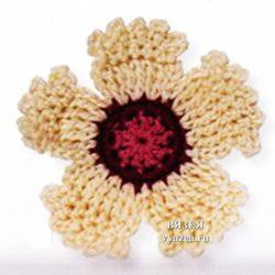 Цветок гвоздика крючком