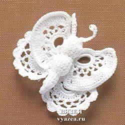 Бабочка ирландское кружево