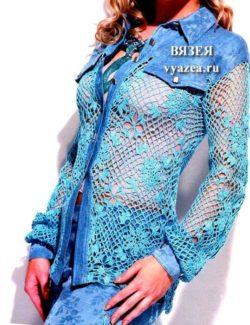 Женская блуза крючком