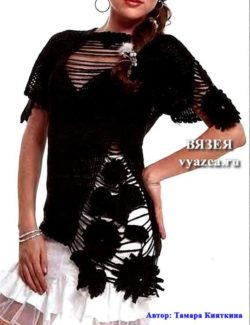 Вязаная блуза крючком