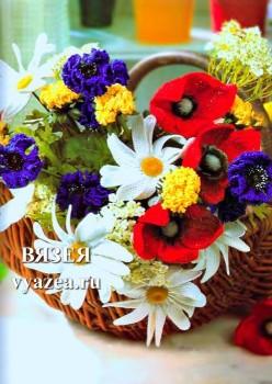 Букет цветов крючком