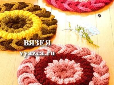Вязание крючком ковров из лент