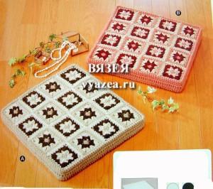 Схемы вязания крючком коврика