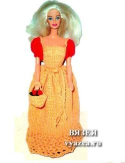 Платье для Барби крючком схема на русском