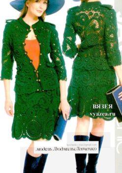 Жакет и юбка крючком