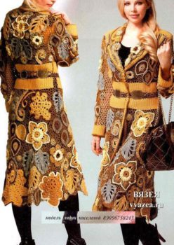 Вязаное пальто для женщины