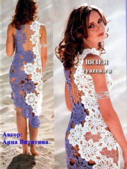 Прозрачное платье крючком