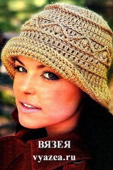 Шляпа крючком для женщин