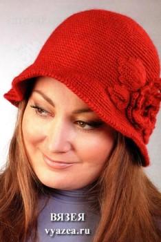 Теплая шляпа крючком