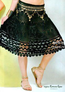 Вязаная летняя юбка