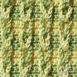 Рельефный узор крючком